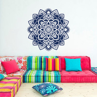 Mandala Wall Decal Sticker Yoga Decals Lotus Flower Indian Decor Wall Art Bedroom Dorm Nursery Boho Bohemian Home Decor Interior Design C098