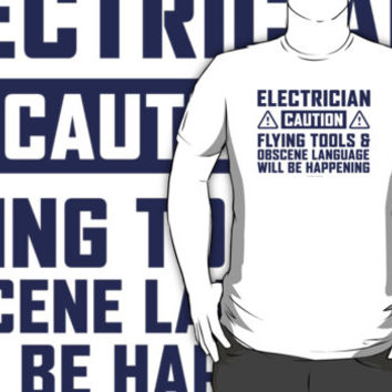 Caution Electrician by Albany Retro