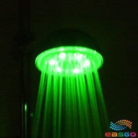 Romantic Green LED Lights Bathroom Shower Head New