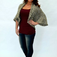 Oversized Crochet Shrug