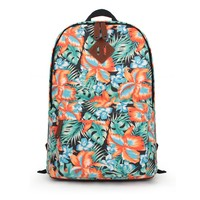 ZLYC Blossom Orchid Canvas Backpack (A)