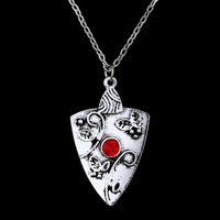 Women Jewelry The Vampire Diary Crystal Pendant necklace Statement Accessories  Bonnie Garnet Amulet Necklace Chain