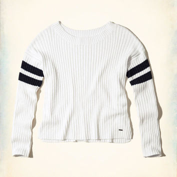 Girls Slouchy Ribbed Pullover Sweater | Girls Tops | HollisterCo.com