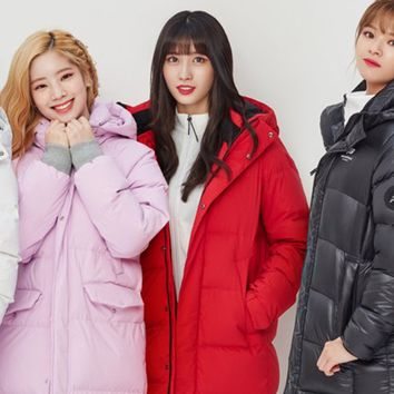 TWICE Beanpole Sport 18FW Unisex Red B.Bench Duck Down Bench Down Long Padding Jackets