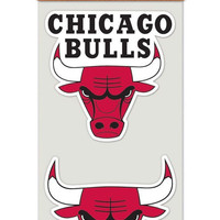 Chicago Bulls 4x4 Decal - 2pk
