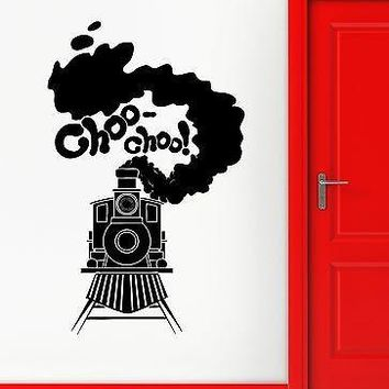 Wall Stickers Vinyl Decal for Kids Room Railway Train Nursery Unique Gift (ig1900)