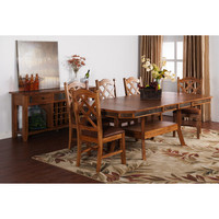 Sunny Designs Sedona Collection Seven Piece Dining Set In Rustic Oak