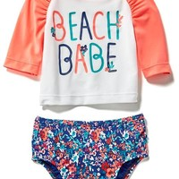 2-Piece Graphic Rashguard Set for Baby | Old Navy