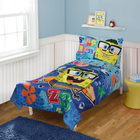 Spongebob Squarepants Toddler Bedding Set 123 School