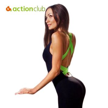 Actionclub Backless Yoga Sets Women Sport Sets One Piece Sexy Female Fitness Gym Sports Jump Suit SY119