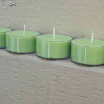 6 Coconut Lime Verbena Scented Soy Tea Light Candles