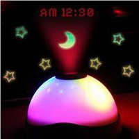 Beautiful Star Effect 3 Colour Night Light projecting Clock Led Lamp China Wholesale - Everbuying.com