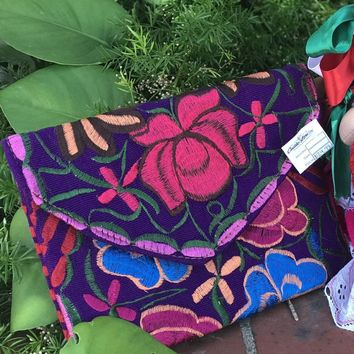 Embroidered Oversized Clutch