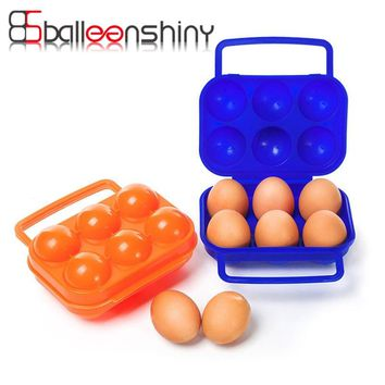Travel Outdoor Camping Portable 6Case Egg Storage Box Plastic Container Organizer Kitchen Gadgets Dispenser Holder Storage Tool
