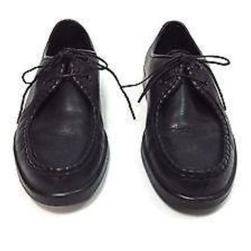 Florsheim Comfortech Comfort  Mens Shoes size 7.5 D Black LEATHER Tie Up Oxfords