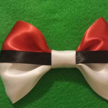 Pokeball Inspired Hair Bow