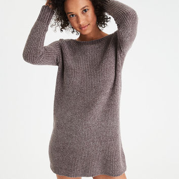 AE Ahh-Mazingly Soft Chenille Sweater Dress, Gray