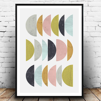 Abstract watercolor, Geometric print ,Abstract wall art, minimalist print, pastel colors, wall decor, wall art print, home decor, nordic art