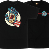 Santa Cruz Marvel Captain America Hand Tee Medium Black