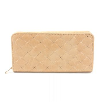 Quilted Wallet Tan