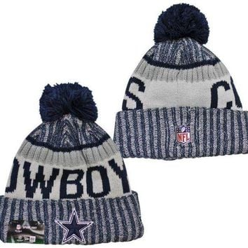 ONETOW NFL Dallas Cowboys New Era 2017 On-Field Sideline Official Sport Knit Beanie