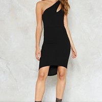 Cut-Out of the Way One Shoulder Dress