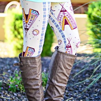 LITTLE GIRL TEE PEE LEGGINGS