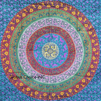 Tapestry On Give Away . Hippie Tapestry, Hippy Mandala Bohemian Tapestries, Indian Dorm Decor, Psychedelic Tapestry Wall Hanging Ethnic Decorative (Multi Color)
