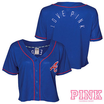 Atlanta Braves Victoria's Secret PINK® Crop Baseball Jersey