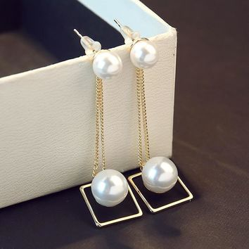 Silver Pearls 925 Korean Stylish Strong Character Earrings [10399364948]