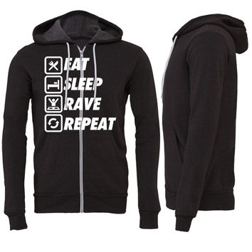 Eat Sleep Rave Repeat Zipper Hoodie