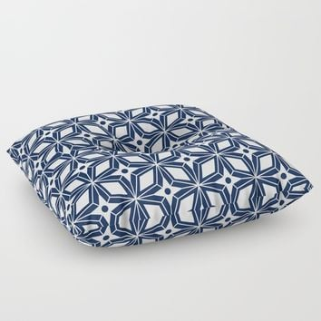 Starburst - Navy Floor Pillow by Heather Dutton