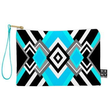 Elisabeth Fredriksson Turquoise And Black Pouch