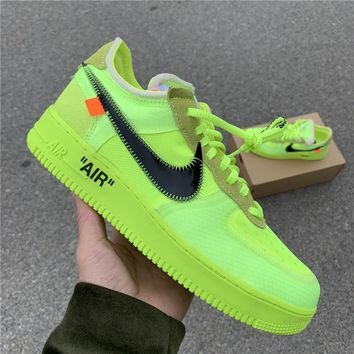 "Free Shipping  OFF-WHITE x Nike Air Force 1 ""Volt""AO4606 69f83a644a4c"