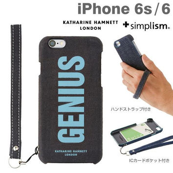 Simplism Katharine Hamnett London Series Fabric Covered Hard case with Strap for iPhone 6s / 6 (Genius)