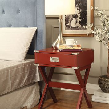 Babs End Table, Red