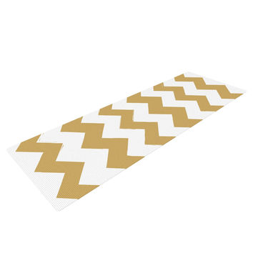 "KESS Original ""Candy Cane Gold"" Chevron Yoga Mat"