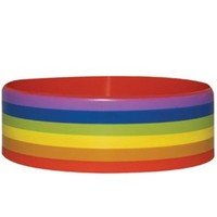 Pride Stripes Rubber Wristband - Buy Online at Grindstore.com