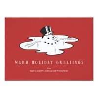 Melted Snowman - Funny Holiday Cards