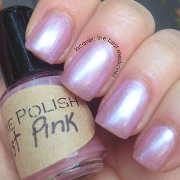 Just Pink - in the pink line -  Nail Polish - large bottle - Handmade - polish - glitter - lacquer - top coat