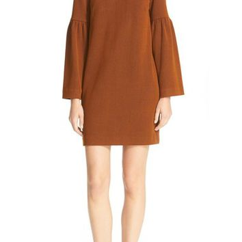 Tibi Stripe Texture Knit Bell Sleeve Dress | Nordstrom