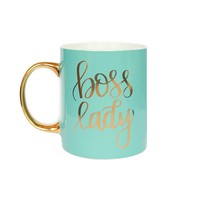 Mint Boss Lady Mug Gold Coffee Mug Gift For Her Gift For Boss Coffee Mug Tea Cup Girl Boss Babe Motivational Coffee Mug Chic Office Decor