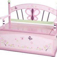 Levels of Discovery CoCaLo Sugar Plum Toy Box Bench - babyearth.com