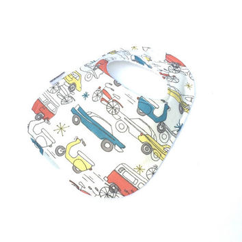 Bibs for Boys - Infant Baby Boy Bib - Boys Car Bib - Baby Bibs - Newborn Bibs -  Baby Boy Gift - Retro Boy Bib - Boys Toddler Bib