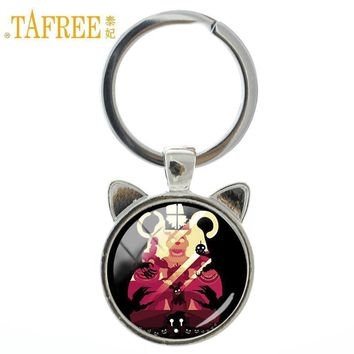 TA  at Freddy keychain happy Animals party cartoon animation key chain art picture glass ringholder jewelry A243