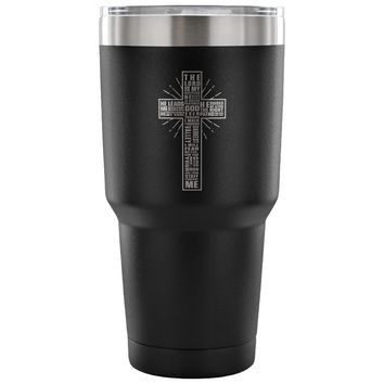 Psalm 23 Travel Mug The Lord Is My Shepderd Prayer 30 oz Stainless Steel Tumbler