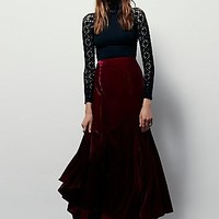 FP X Womens FP X Curtain Call Velvet Maxi Skirt