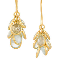Pippa Small - 18-karat gold aquamarine earrings