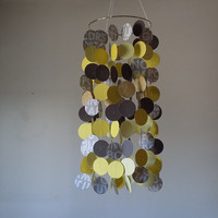 SALE! Brown and Yellow floating circle Alphabet mobile.  Baby Boy mobile, Crib mobile, Nursery mobile