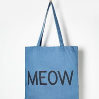 Meow Chambray Shopper Tote